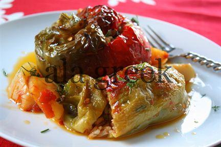 Greek stuffed tomatoes (Gemista)