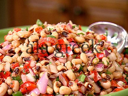 Black eyed beans salad