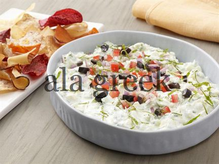 Greek Salad Layered Dip