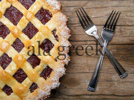Griechische jam tart (Pasta flora)